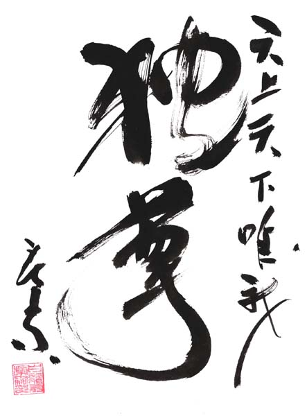 Dokuson (self respect) - the Ninja's respect of all beings. By Masaaki Hatsumi
